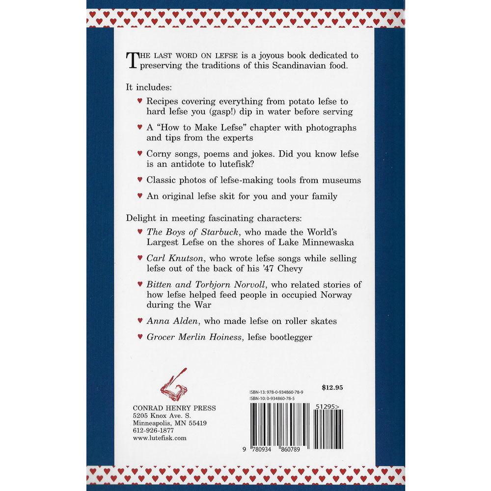 The Last Word on Lefse: Heartwarming Stories Rear Cover Image