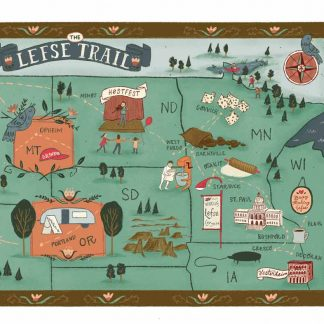 Lefse Trail Map
