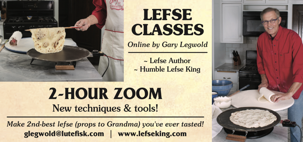 2 hour long Lefse classes over Zoom!