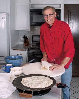 Gary preparing Lefse!