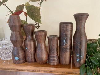 Walnut Flower Vase